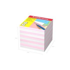 Бумага для заметок ErichKrause 90 x 90 x 90мм, белая, розовая 4455 Ош