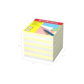 Бумага для заметок ErichKrause 90 x 90 x 90мм, белая, желтая 4456 Ош