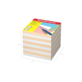 Бумага для заметок ErichKrause 90 x 90 x 90мм, белая, персиковая 6602 Ош