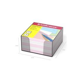 Бумага для заметок в пласт. подстав ErichKrause 90 x 90 x 50мм, белая, розовая 2718 Ош