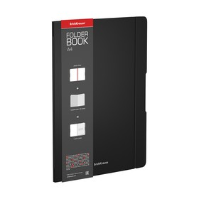 Тетрадь А4 48л кл ErichKrause FolderBook пласт. обложка, черная 48225 Ош