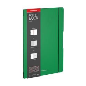 Тетрадь А4 48 кл ErichKrause FolderBook пласт. обложка, зеленая 48227 Ош