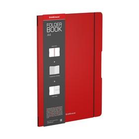 Тетрадь А4 48л кл ErichKrause FolderBook пласт. обложка, красная 48228 Ош