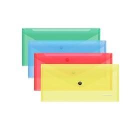 Папка-конверт на кнопке ErichKrause Classic Travel, полупрозрачная, микс 47055 Ош