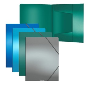 Папка на резинках А4 пластиковая ErichKrause Matt Ice Metallic микс 50399 Ош