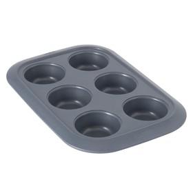 Форма для выпечки Gem, 6 кексов, D=6.5 см