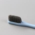 Зубная щетка в японском стиле с бамбуковым углем 17 см с рельефной щетиной - Фото 3