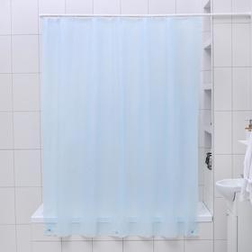 Штора для ванной комнаты «Классика», 180×180 см, PEVA, цвет голубой Ош