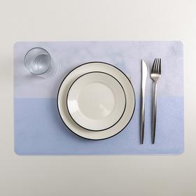 """Салфетка кухонная 45×30 см """"Нео"""", цвет серо-голубой"""