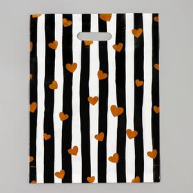 Пакет полиэтиленовый с вырубной, усиленной ручкой, 31 х 40 см, 60 мкм Ош