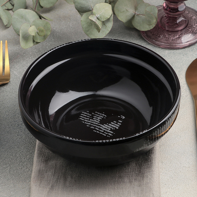 Тарелка Gazzetta nero, 600 мл, d=15,5 см - Фото 1