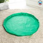 Развивающий коврик - сумка для игрушек «Котик», зеленый, d100 см, оксфорд - Фото 3