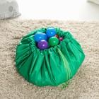 Развивающий коврик - сумка для игрушек «Котик», зеленый, d100 см, оксфорд - Фото 2