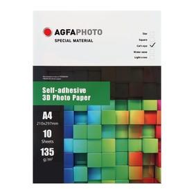 Фотобумага AGFA А4,135 г/м², глянцевая самоклеящаяся «3D Кошачий глаз», 10 листов