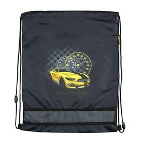 Мешок для обуви 460 х 340 мм Mag Taller EVO, Racing, чёрный (сетка для вентиляции, высокопрочный полиэстер 100%)