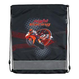 Мешок для обуви 460 х 340 мм Mag Taller Ezzy III, Motorbike, чёрный (сетка для вентиляции, высокопрочный полиэстер 100%)