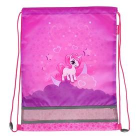 Мешок для обуви 460 х 340 мм Mag Taller Ezzy, Unicorn, розовый (сетка для вентиляции, высокопрочный полиэстер 100%)