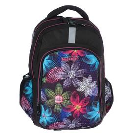 Рюкзак школьный эргономичная спинка, Mag Taller Zoom, 41 х 28 х 21, отделение для ноутбука, Flowers