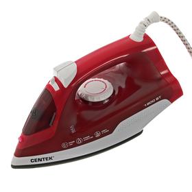 Утюг Centek CT-2347, 1800 Вт, антипригарная подошва, паровой удар, самоочистка, цвет пурпур
