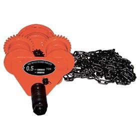 Каретка для тали MATRIX 519825, передвижная, 1 т, r 1 м, цепь 2.5 м, швеллер 68-110 мм Ош