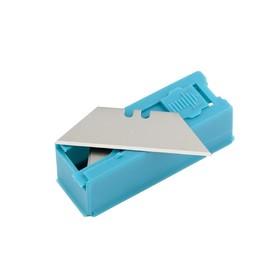 Лезвия GROSS 79376, 19 мм, 12 шт, трапециевидные, пластиковый пенал