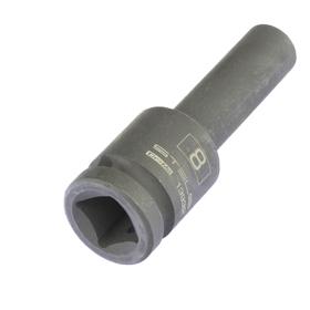 Головка ударная Stels 13932, 8 мм, 1/2', CrMo, шестигранная, удлиненная Ош