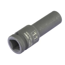 Головка ударная Stels 13935, 11 мм, 1/2', CrMo, шестигранная, удлиненная Ош