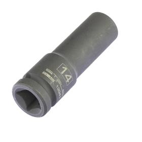 Головка ударная Stels 13941, 14 мм, 1/2', CrMo, шестигранная, удлиненная Ош