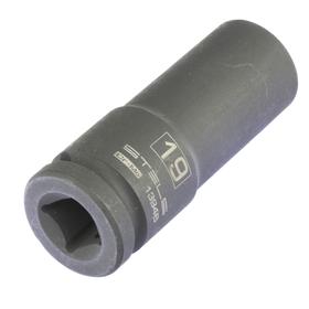 Головка ударная Stels 13946, 19 мм, 1/2', CrMo, шестигранная, удлиненная Ош