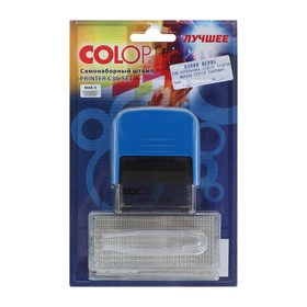 Штамп автомат самонаб 5стр 1, 2 касса 18 х 47мм синий PRINTER С 30 SET blue