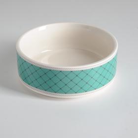 Миска керамическая 'Сеточка', 10,5 х 4 см, зелёная Ош