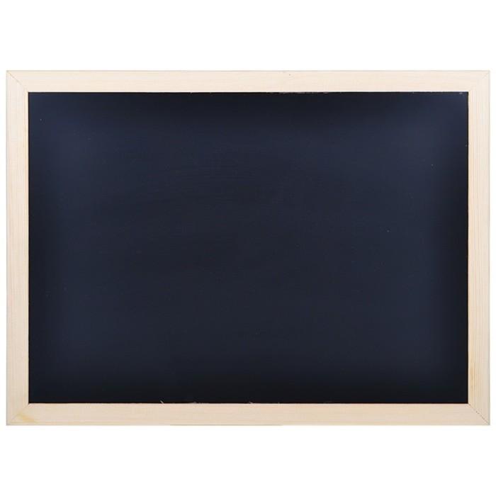 Доска меловая с деревянной рамкой 700*500 мм, цвет чёрный