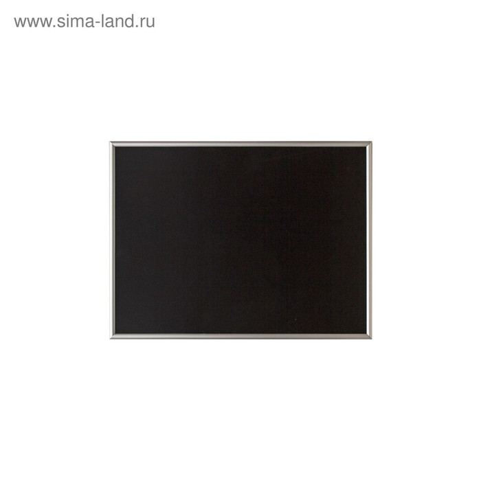 Доска меловая с алюминиевой рамкой 700*500 мм, цвет чёрный