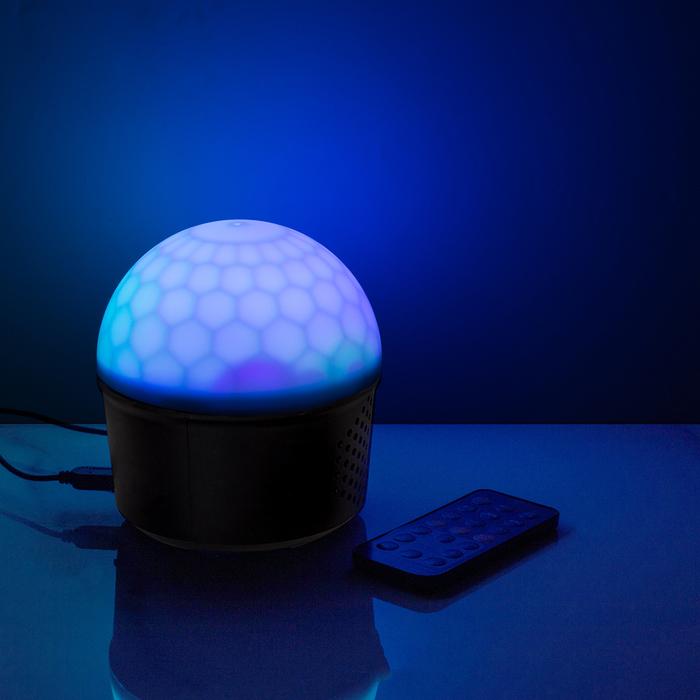 """Световой прибор """"Хрустальный шар"""", USB, с музыкой, Bluetooth, 2 режима"""