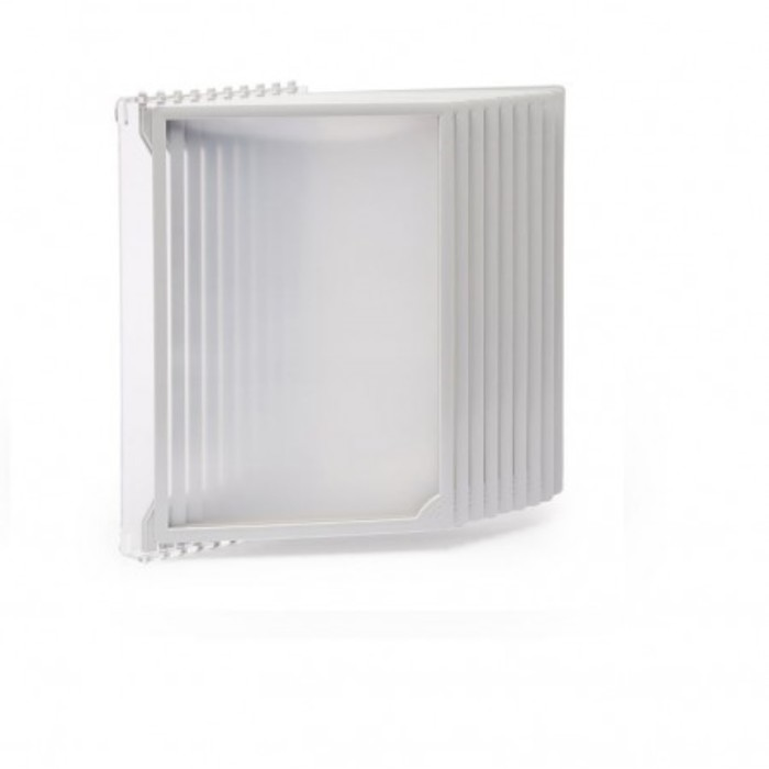 Настенная перекидная система, 10 рамок А4, цвет серый