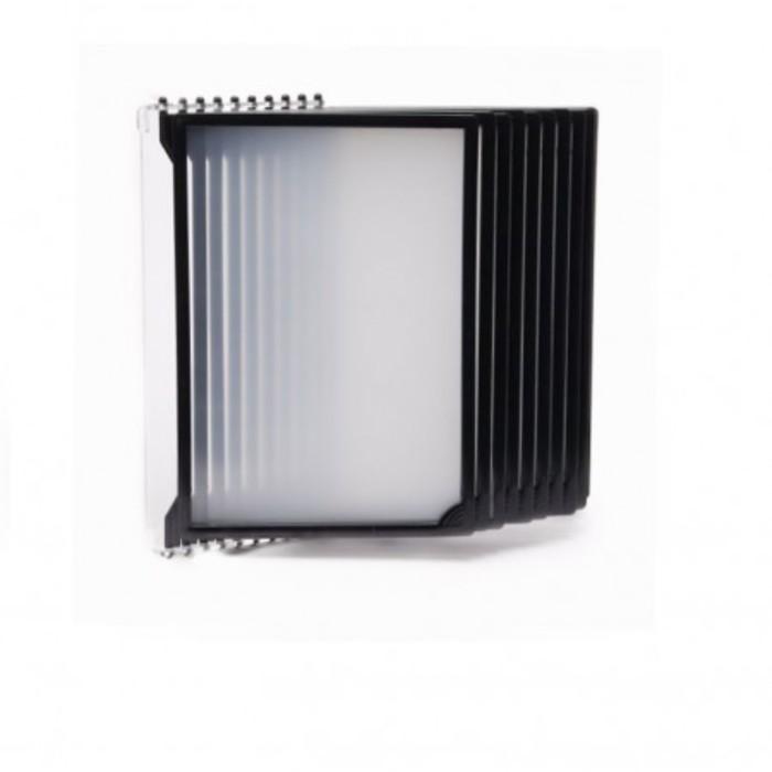 Настенная перекидная система, 10 рамок А4, цвет чёрный