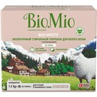 Стиральный порошок BioMio, для белого белья, с экстрактом хлопка, 1,5 кг