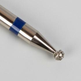 Фреза алмазная для маникюра «Шар», средняя зернистость, 1,6 мм Ош