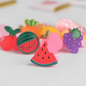 Кольцо детское 'Выбражулька' фруктовый сад, форма МИКС, цветное Ош
