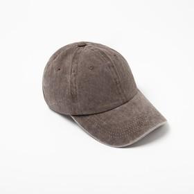 Бейсболка  MINAKU, размер 58, цвет коричневый Ош