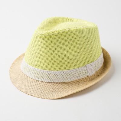 "Шляпа женская MINAKU ""Лето"", размер 56-58, цвет желтый"