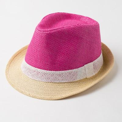 """Шляпа женская MINAKU  """"Лето"""", размер 56-58, цвет розовый"""