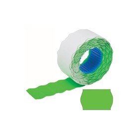 Этикет-лента волна 26 х 12 мм, зеленая, 800 этикеток Ош