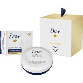 Подарочный набор Dove «С любовью для вас»: Крем для рук, 75 мл, Крем-мыло, 100 г