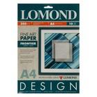 Фотобумага А4 LOMOND, 927041, 200 г/м?, матовая текстурная «Продольных линий», 10 листов