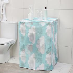 Чехол для стиральной машины с вертикальной загрузкой, 59×55×86 см, PEVA, цвет МИКС Ош