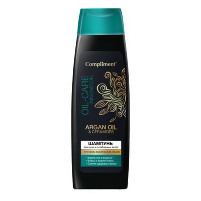 Шампунь Compliment Аrgan Oil & Ceramides, для сухих и ослабленных волос, 400 мл - Фото 1