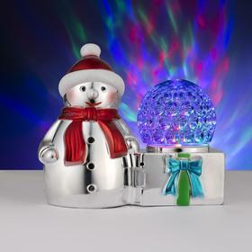 Световая фигура 'Снеговик и шар', 3 LED, 220V Ош