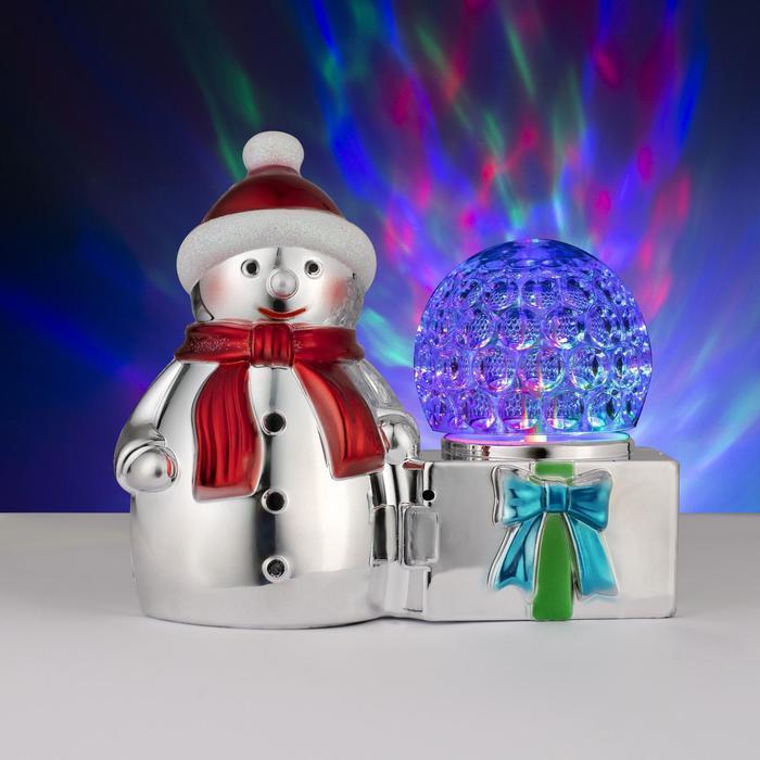 """Световая фигура """"Снеговик и шар"""", 3 LED, 220V"""