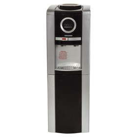 Кулер для воды SONNEN FCB-02, нагрев и охлаждение, 550/95 Вт, серебристо-чёрный
